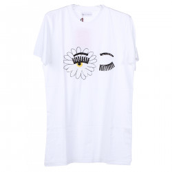 WHITE T SHIRT WITH FLOWER SEQUINS
