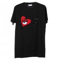 BLACK T SHIRT WITH HEART FANTASY