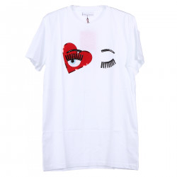 WHITE T SHIRT WITH HEART FANTASY