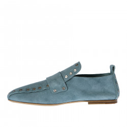 SUEDE MOCASSIN WITH STUDS