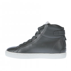 GREY AND WITHE LEATHER SNEAKER