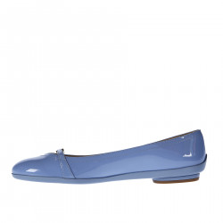LIGHT VIOLET PTENT LEATHER FLAT WITH BUCKLE