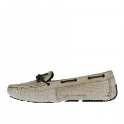 SAND LEATHER MOCASSIN