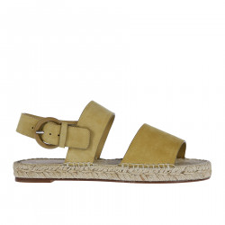 LOW SUEDE SANDAL