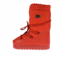 RED FABRIC MOON BOOT