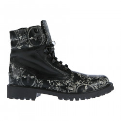BLACK AND WITHE FANTASY DESERT BOOT