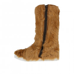 SAND COLOR IN SYNTHETIC FUR BOOT
