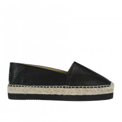 ESPADRILLAS NERA IN PELLE