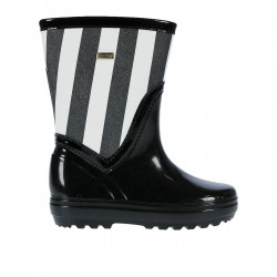 BLACK AND WITHE RUBBER BOOT