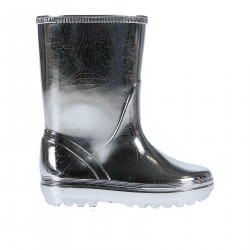 SILVER METALLIZED RUBBER BOOT