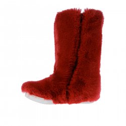 RED SYNTHETIC FUR BOOT