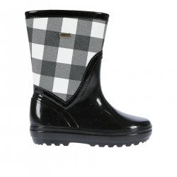 BLACK AND WITHE SQUARE BOOT
