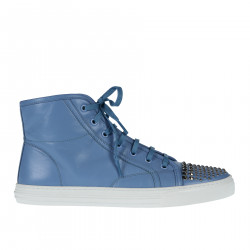 LIGHT BLUE SNEAKER WITH STUDS