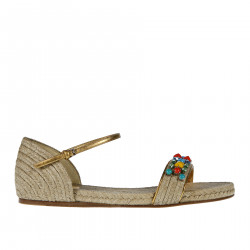 STRING SANDAL WITH STONES