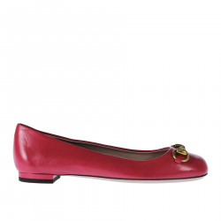 PINK LEATHER FLAT SHOE