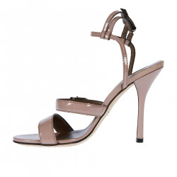 POWDER PATENT LEATHER SANDAL