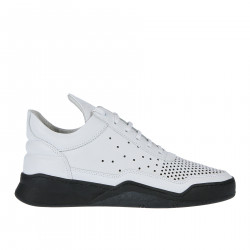 BLACK AND WHITE PERFORATED SNEAKER
