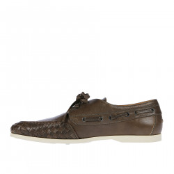 BROWM LEATHER BOAT SHOE