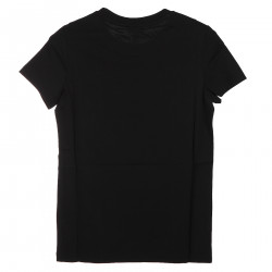 BLACK T SHIRT WITH FRONTAL LOGO