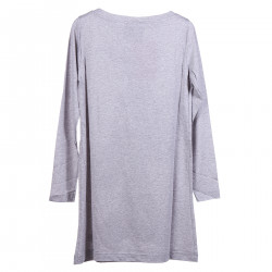 GREY DRESS WITH FRONTAL PRINT