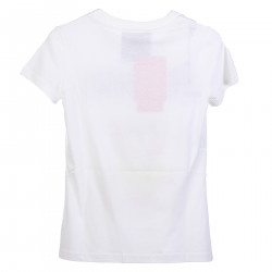 WHITE T SHIRT WITH FRONTAL LOGO