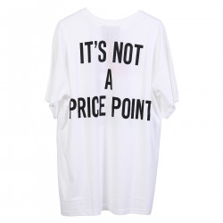 WHITE T SHIRT WITH WRITTEN