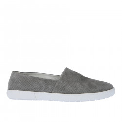 GREY PERFORATED SLIP ON