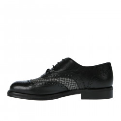 BLACK LACE UP SHOE WITH FANTASY DESIGN