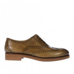 SOFT BROWN LEATHER LACE UP SHOE