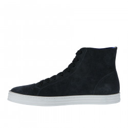 BLUE PERFORATED SUEDE DESERT BOOT
