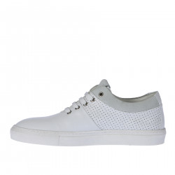 WHITE PERFORATED SNEAKER