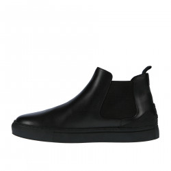 BLACK LEATHER LOW BOOT
