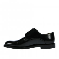 BLACK LEATHER LACE UP SHOE