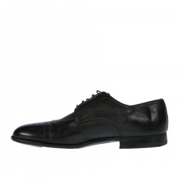 BLACK FRANCESINA WITH PERFORATED DETAIL
