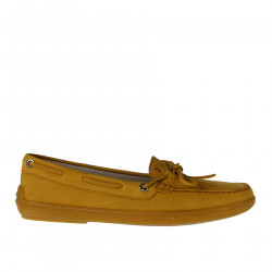 YELLOW SOFT LEATHER LOAFER