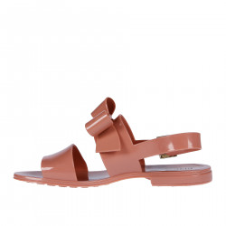 PINK SANDAL WITH RIBBON