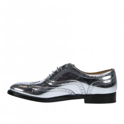 SILVER WINGTIP LACE UP