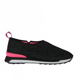 BLACK AND FUXIA SNEAKER WITH GLITTER