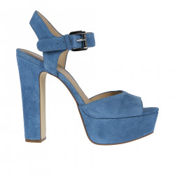 LIGHT BLUE SUEDE SANDAL