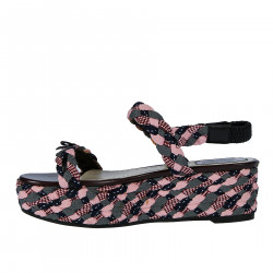 MULTICOLOR PLAIT SUEDE SANDAL