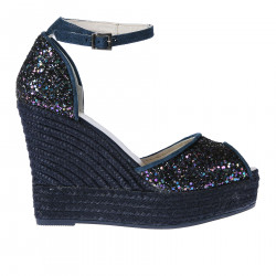 BLUE SANDAL WITH GLITTER