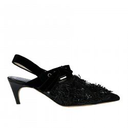 BLACK SANDAL WITH PAILLETTES