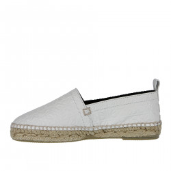 ESPADRILLAS BIANCA IN PELLE DECORATA