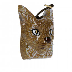 CAT FACE CHARM GOLD