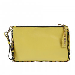 LEATHER MUSTARD POCHETTE
