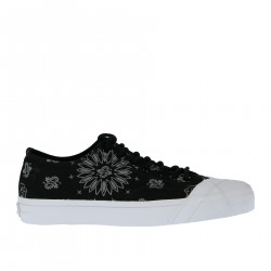 BLACK FANTASY CANVAS SNEAKER WITH CONTRASTING SOLE