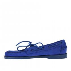 ELETRIC BLUE SUEDE BOAT SHOE