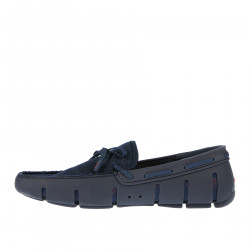 BLUE PERFORATED EFFECT LOAFER