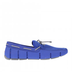 ELETTRIC BLUE LOAFER WITH GREY LACES