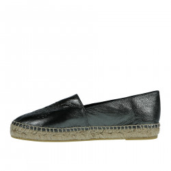 ESPADRILLAS VERDE METAL IN PELLE